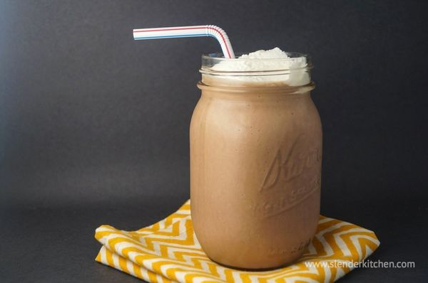 "<strong>13.4 grams of protein</strong><br><a href=""http://www.slenderkitchen.com/chocolate-breakfast-shake/#"" target=""_blank"""