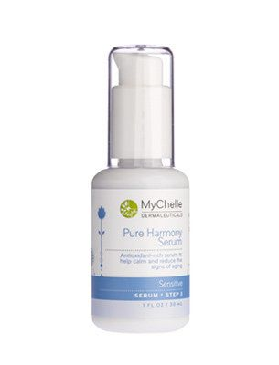 """This serum will have you going """"ahhh,"""" in the pleasant way.   $45.50, <a href=""""http://www.mychelle.com/Pure-Harmony-Serum?sc="""