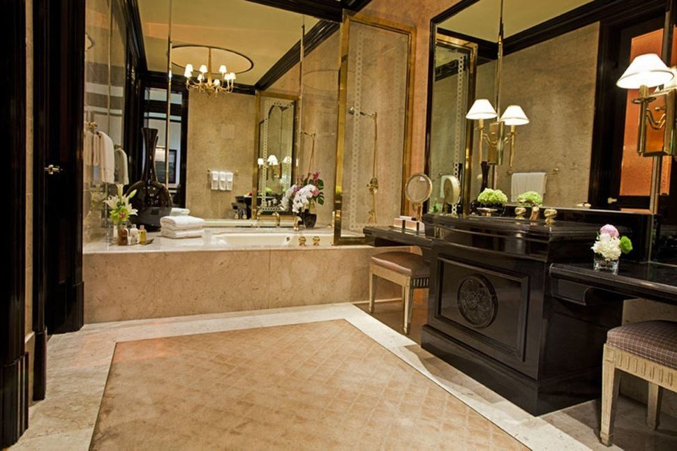 It's elegance at its best at the Mirage, Las Vegas, with marble floors, dual vanities and a Clarisonic facial cleansing syste