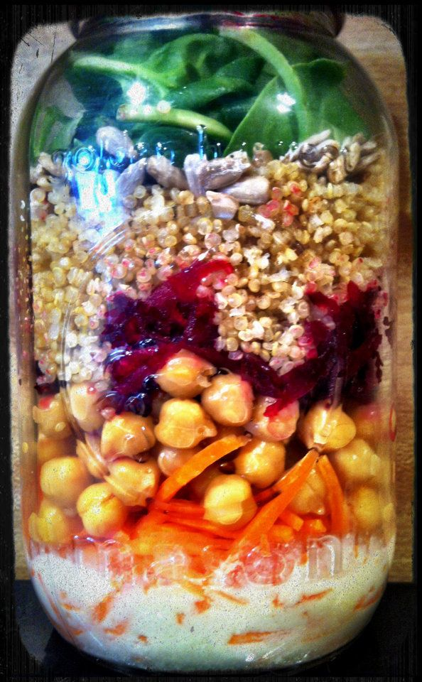 "<strong>Get the <a href=""http://thecozyvegan.com/2013/01/22/mason-jar-salad-days/"" target=""_blank"">Mason Jar Salad With Lemon"