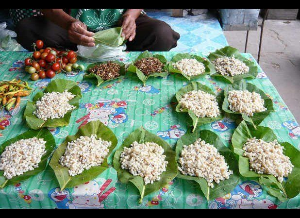 Weaver ants and their eggs are consumed as a delicacy in Thailand and Laos and are sold in markets all over the region. They'