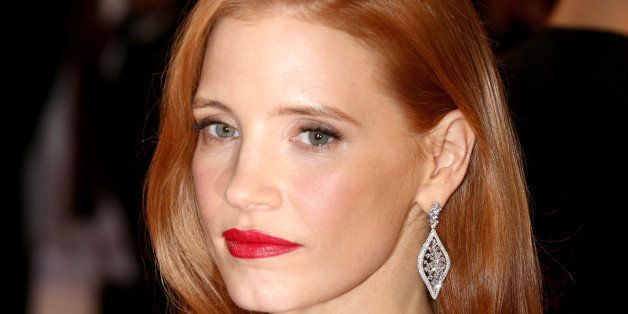 CANNES, FRANCE - MAY 17:  Jessica Chastain attends 'The Disappearance of Eleanor Rigby' premiere during the 67th Annual Cannes Film Festival on May 17, 2014 in Cannes, France.  (Photo by Tim Whitby/Getty Images)