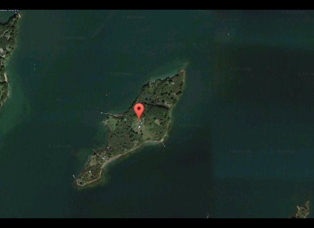Maybe it's not tropical but this three-acre island off the coast of Maine can easily compete against listings that claim warm
