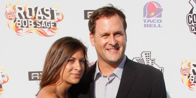 BURBANK, CA - AUGUST 03: Actor Dave Coulier (R) and Melissa Bring arrive to 'Comedy Central Roast Of Bob Saget' at the Warners Brothers Studio Lot on August 3, 2008 in Burbank, California.  (Photo by Michael Buckner/Getty Images for Comedy Central)