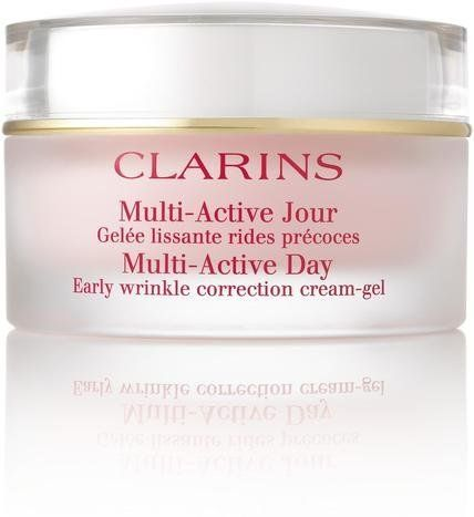 """$59, <a href=""""http://www.clarinsusa.com/en/multi-active-day-correction-cream-all-skin-types/C010407010.html"""" target=""""_blank"""">"""