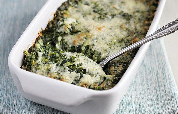 "<strong>Get the <a href=""http://www.ezrapoundcake.com/archives/19883"">Creamed Spinach Gratin recipe</a> from Ezra Pound Cake<"