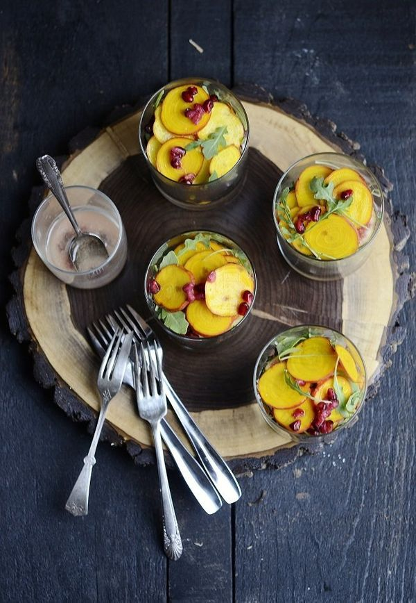 "<strong>Get the <a href=""http://www.versesfrommykitchen.com/2012/12/winter-salad-of-roasted-golden-beets-butternut-squash-sal"