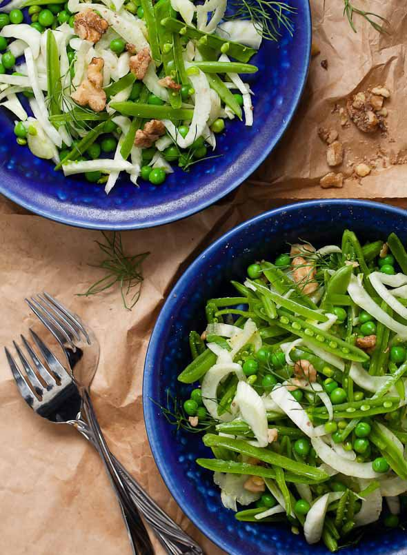"<strong>Get the <a href=""http://gourmandeinthekitchen.com/2012/sugar-snap-pea-fennel-salad-recipe/"" target=""_blank"">Sugar Sna"