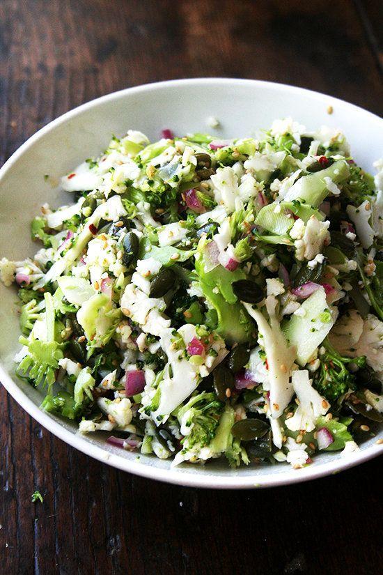 "<strong>Get the <a href=""http://www.alexandracooks.com/2014/05/22/cauliflower-broccoli-pepita-salad/"" target=""_blank"">Caulifl"