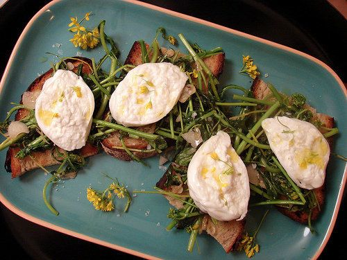 "<strong>Get the <a href=""http://food52.com/recipes/5179-burrata-bruschetta-with-broccoli-rabe"" target=""_blank"">Burrata Brusch"