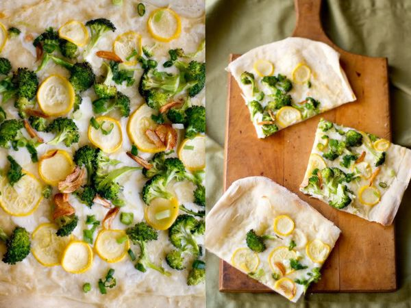 "<strong>Get the <a href=""http://rikkisnyder.com/blog/13466605/broccoli"">Garlicky Broccoli Flatbread recipe</a> from Rikki Sny"