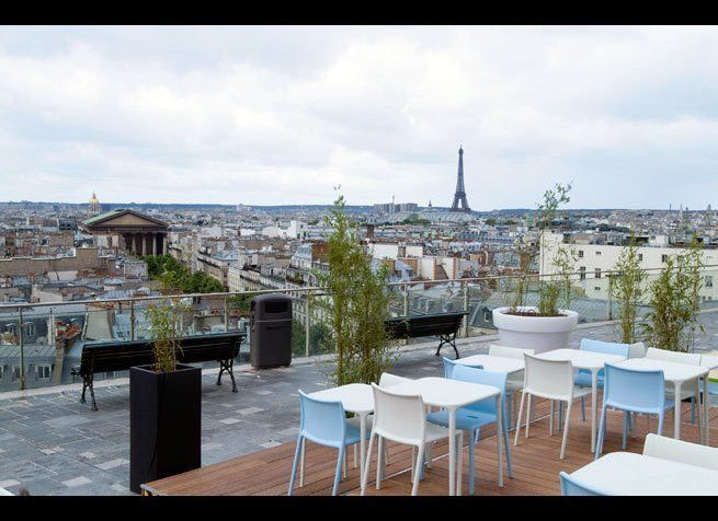 <em>Photo Credit: Courtesy of Printemps</em>  All of Paris unfolds before you in 360-degree panoramic splendor from the Del