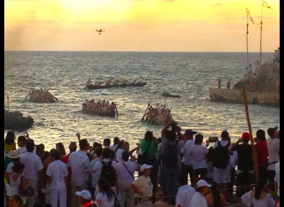 Taking nearly 9 hours these small boats leave at sunrise to travel ancient Mayan 