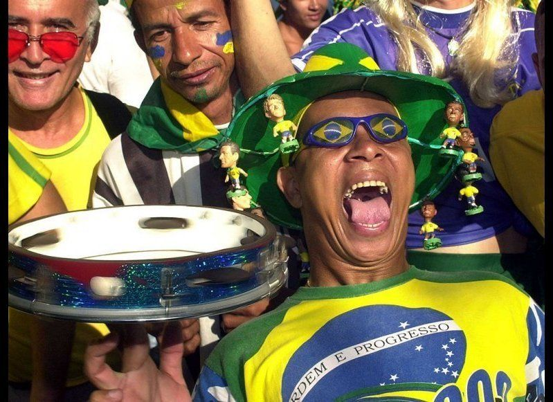 <strong>BRAZIL'S FANS </strong> The supporters of Brazil are renowned as a passionate, samba-dancing bunch—fitting for a co