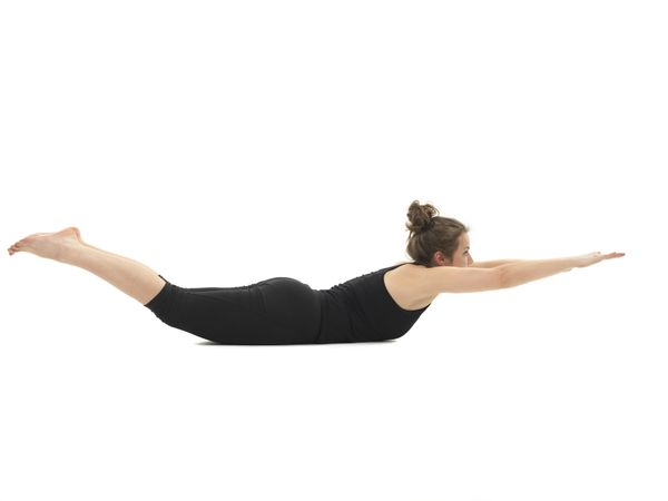 Despite its unfortunate name, the locust is a simple and essential pose for distance runners. To do it, lay on your stomach w