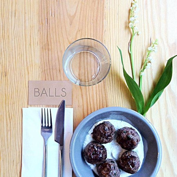 """There is a trendy new restaurant in Paris called <a href=""""http://www.ballsrestaurant.com/"""" target=""""_blank"""">Balls</a>, it serv"""