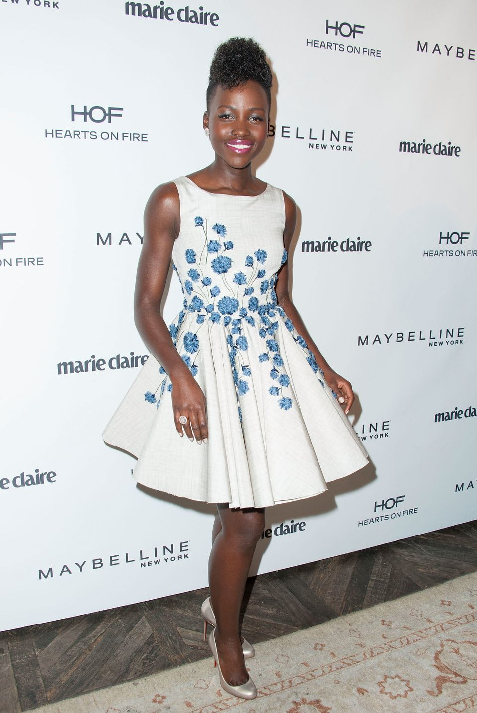 WEST HOLLYWOOD, CA - APRIL 08:  Actress  Lupita Nyong'o arrives at the Marie Claire's Fresh Faces Party at Soho House on Apri