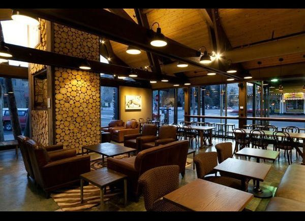 You'll find this rustic Starbucks inside an old church just a stone's throw from popular ski spot Sun Valley. Designers utili