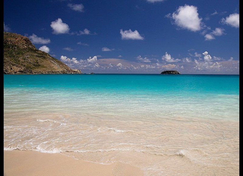 ST. BARTHS 87.2  OUR FAVORITE: Salines  THE LOOK: Hidden from a small parking lot overlooking the salt basin, and access