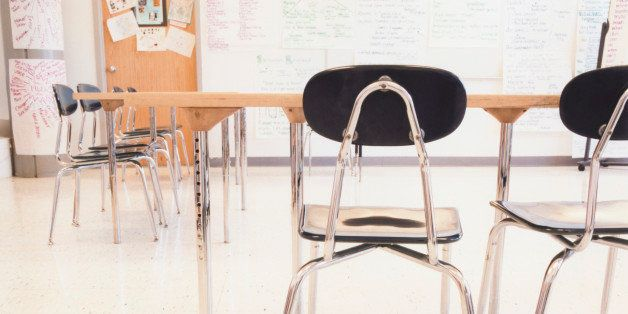 Desks and Chairs in Classroom