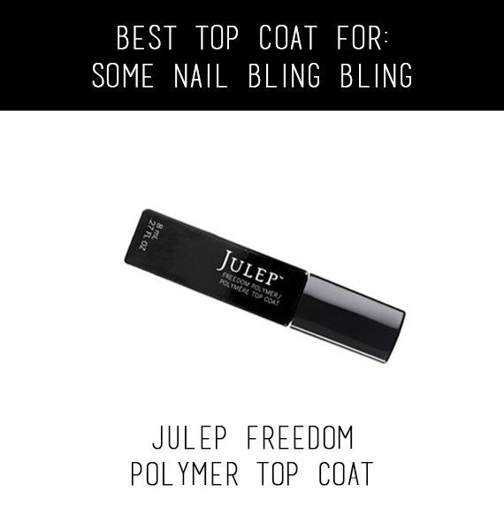 """Your nails will shine bright like a diamond with this Julep gem.  <br>  $18, <a href=""""http://www.julep.com/freedom-topcoat.ht"""
