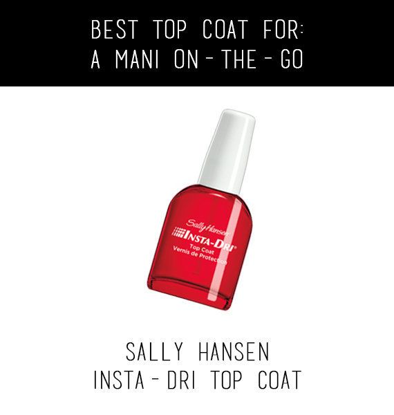 We get it -- you're late for work, but your nails are looking a little rough. Before you head out the door with a fresh, red
