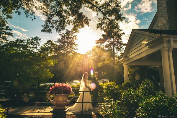 """""""Sunset with Sarah and Nate yesterday after their wedding at Highgrove in Raleigh, N.C."""" - Hooman Bahrani"""