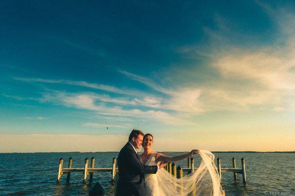 """Taylor and Joe had a fantastic wedding this weekend in Rehoboth Beach, Del."" - Hooman Bahrani"
