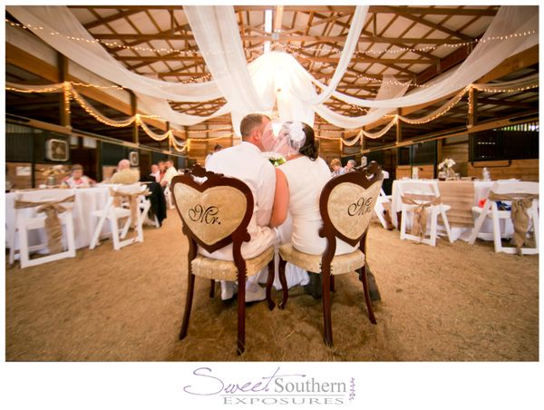 """""""Mr. and Mrs. Love enjoyed a beautiful southern wedding at Breezy Meadows Farm in Mooresville, N.C."""" - Billie Buskirk"""