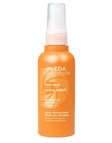 """Sunscreen is a no-brainer. Don't forget to also protect your hair!  <br><strong>Try:</strong> <a href=""""http://www.aveda.com/p"""