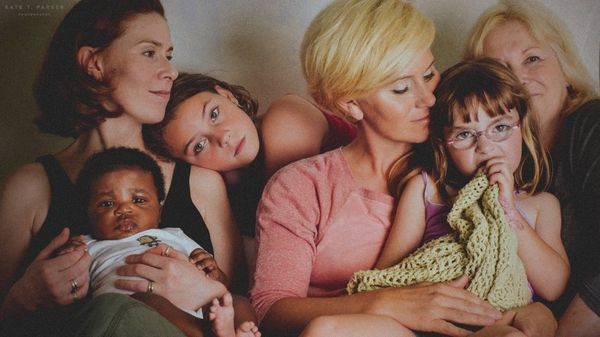 """""""This is my family, or part of it. My mom, myself, my two daughters, my sister and her son."""""""