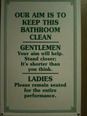 19 Funny Bathroom Signs Photos Huffpost