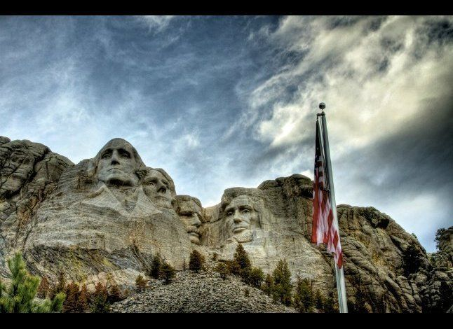 After 14 years of effort, workers finished sculpting Mount Rushmore in the Black Hills of South Dakota in 1941. The entire mo