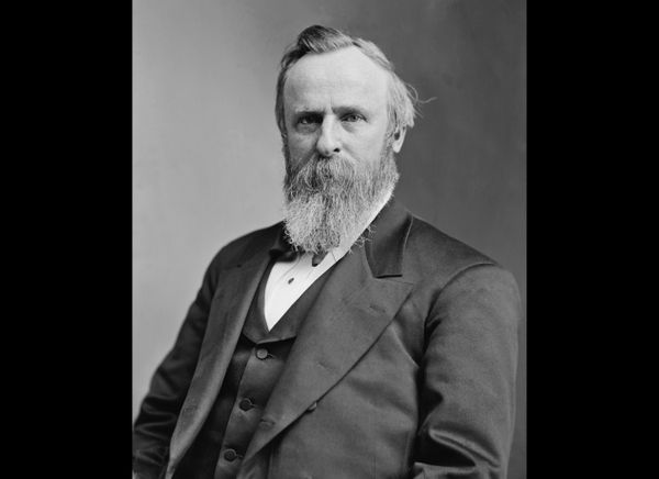 During his presidency, Rutherford B. Hayes banned alcohol from the White House, allegedly for political reasons as he tried t