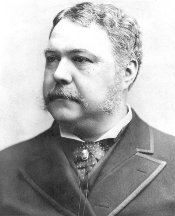 Not only was Chester A. Arthur a very sharp dresser (he owned over 80 pairs of pants) but he often took late night strolls ar