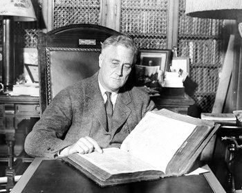 Late one night at a dinner party, President Franklin Roosevelt regaled guests with a premise for a mystery novel. Magazine ed