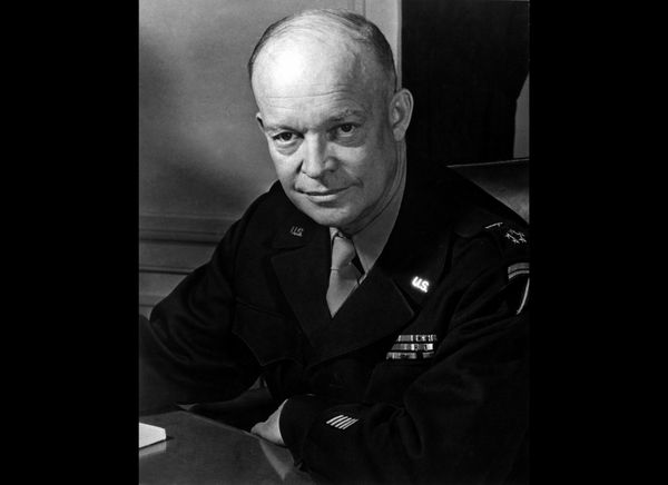As a freshman in high school, Dwight Eisenhower injured his knee, and the wound caused an infection that doctors feared could