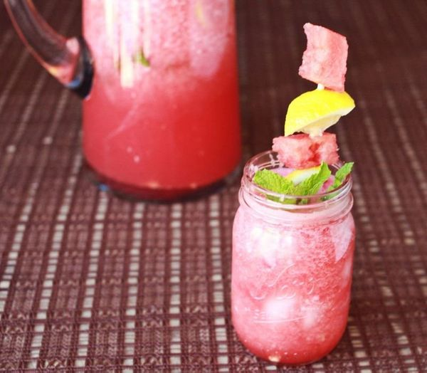 "<strong>Get the <a href=""http://www.abeautifulmess.com/2012/06/agua-fresca-two-ways.html"" target=""_blank"">Watermelon and Mint"
