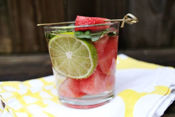 "<strong>Get the <a href=""http://www.abeautifulmess.com/2013/06/two-fun-mojito-recipes-.html"" target=""_blank"">Watermelon + Bas"