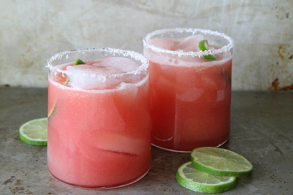 "<strong>Get the <a href=""http://heatherchristo.com/cooks/2014/06/25/salted-watermelon-margaritas/"" target=""_blank"">Salted Wat"