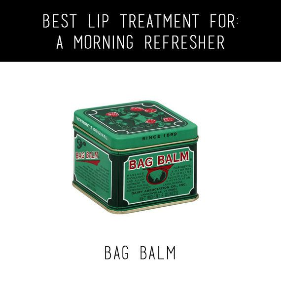 Before you leave the house (or before applying your lipstick) add a swipe of Bag Balm. It'll give your lips the hydrating boo