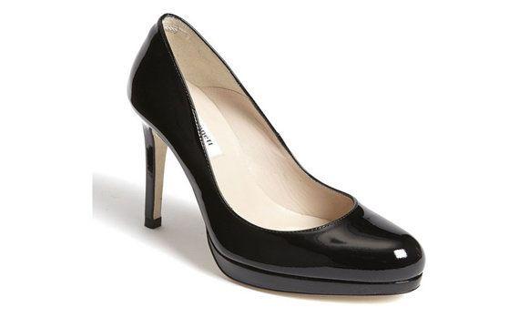 "$345, <a href=""http://us.lkbennett.com/Shoes/Heels/Sledge-Patent-Leather-Platform-Heel/p/CONTSCSLEDGEPATENTLEATHERBlackBlack"""
