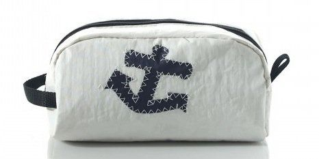 """Since this bag is made from a recycled sail, it's right at home on the beach or by your pool. No yacht required.    <a href="""""""