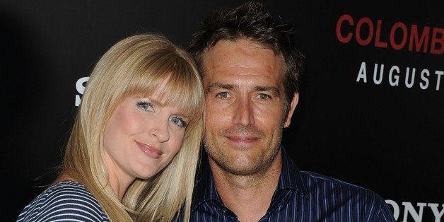 LOS ANGELES, CA - AUGUST 24:  Actor Michael Vartan and his wife Lauren Vartan arrive at the screening of Columbia Pictures' '