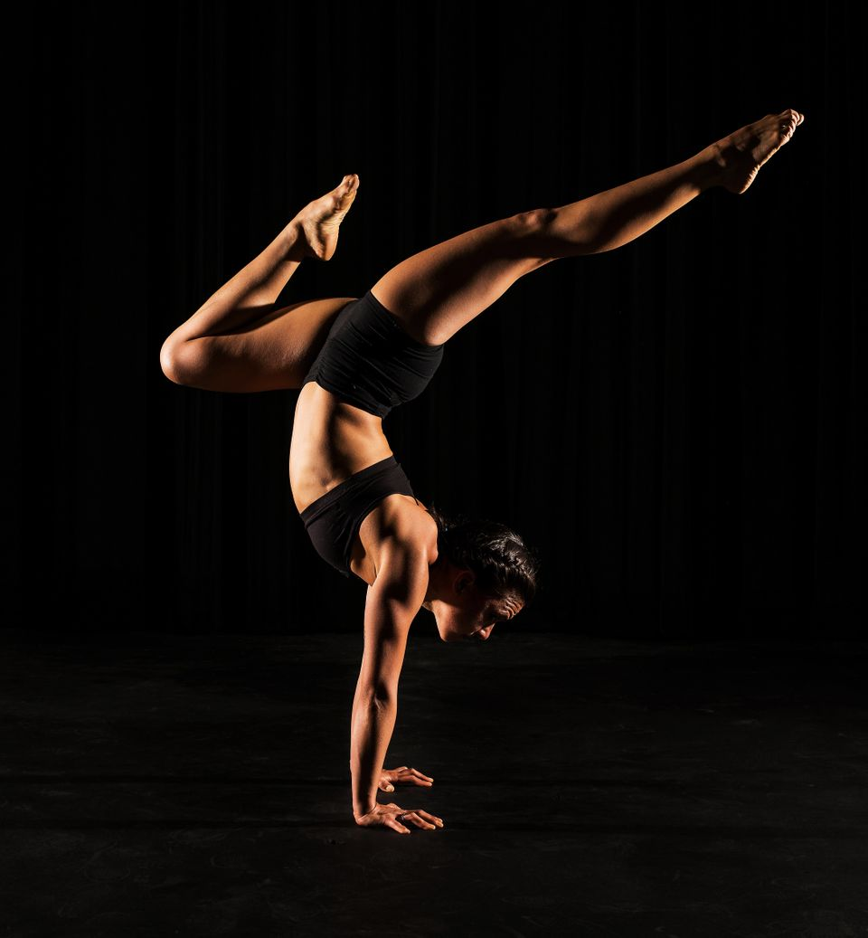 "Yoga Instructor <a href=""http://nyc.modoyoga.com/our_studio/teachers/"" target=""_blank"">Alyssa Arroyo</a> poses for a portrait"