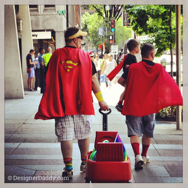"They're always down for dressing up.   (Photo courtesy of <a href=""http://designerdaddy.com/"" target=""_blank"">Brent Almond &"