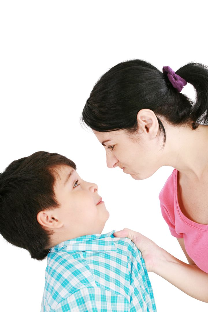 boy confronts his mother...