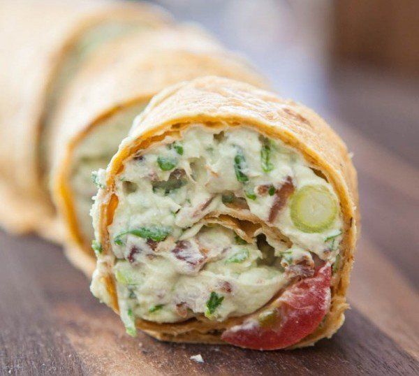 """<strong>Get the <a href=""""http://eclecticrecipes.com/avocado-cream-cheese-snack-roll-ups"""" target=""""_blank"""">Avocado Cream Cheese"""