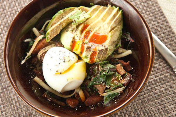 "<strong>Get the <a href=""http://www.macheesmo.com/2014/02/mushroom-torta/"" target=""_blank"">Green Eggs & Ham Breakfast Bowl re"