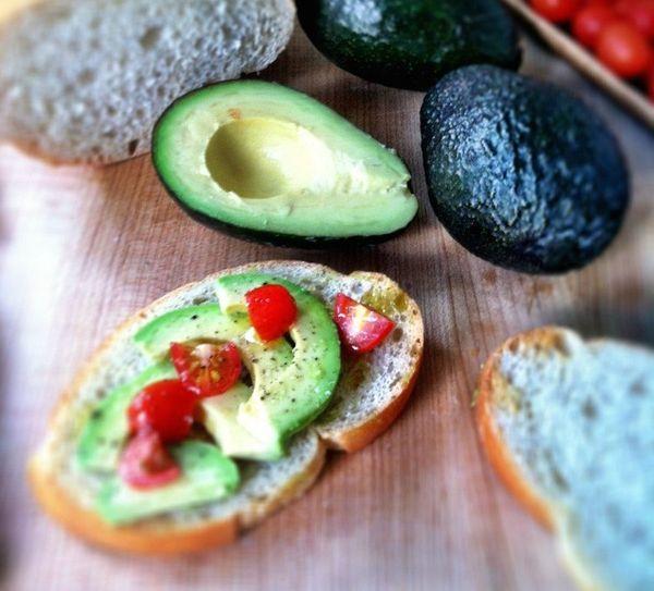 """<strong>Get the <a href=""""http://www.bellalimento.com/2012/04/21/avocado-breakfast-toast/"""" target=""""_blank"""">Avocado Breakfast T"""